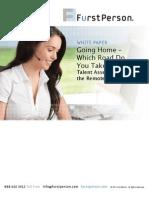 FurstPerson - Going Home - Talent Assessment for Remote Agent Models April 2012 Revise