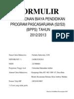 FORMULIR BPPS 2012 -ILA