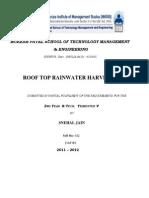 Roof Top Rainwater Harvesting