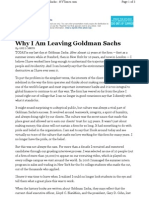 Why I Am Leaving Goldman Sachs Ethics
