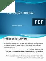 Legislacao Mineral- Tópicos