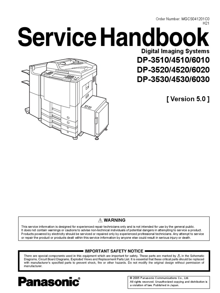 DP-3520 Service Manual   Image Scanner   Fax