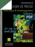 Dossier de Presse Salon Botanique 2012