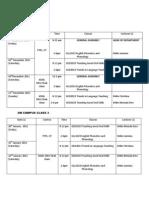 Schedule Nov 11