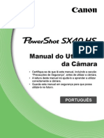 PowerShot SX40 HS Camera User Guide PT v1.0
