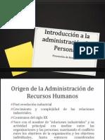 Introducción a la administración de Personal