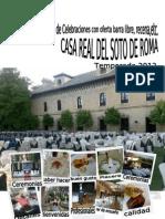 Menus Casa Real 2012 Con Todo Incluido Oferta Nueva.