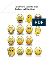 Tone and Feelings and Emotion Adjectives - 1st Pre Intermediate