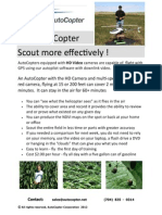 UAV Scouting Crops