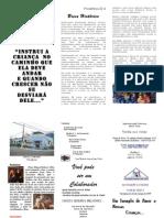 Folder de Aniversário de 35 anos da Sociedade Família Cristã