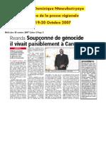 Revue de Presse Dominique Ntawukuriryayo