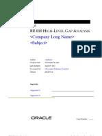 B-br-010 High Level Gap Analysis