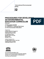 Procedures for Developing an Environmental Education Curiculum