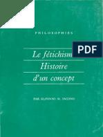 IACONO, Alfonso - Le fétichisme