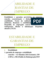 Estabilidade e Garantias de Emprego