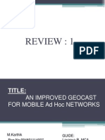 An Improved Geocast for Mobile Adhoc Networks
