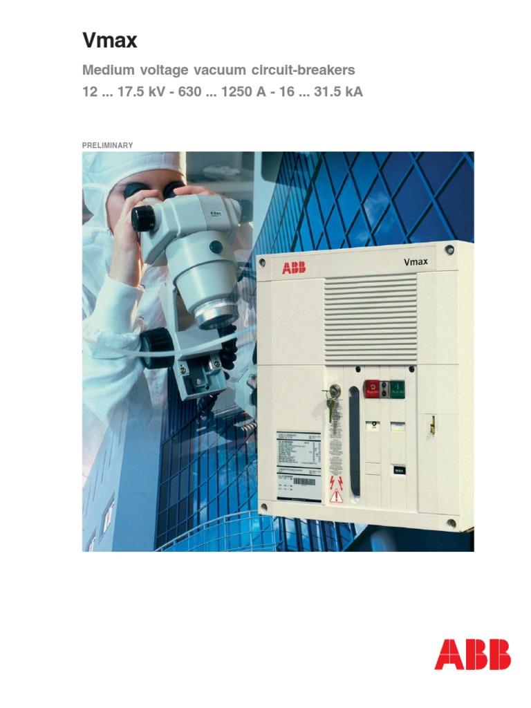 ABB 11KV Vmax VCB Catalogue | Electric Current | Electrical Connector