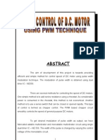 Speed Control of Dc Motor Pwm