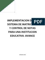 Avance Del Proyecto-sistema de Matriculas