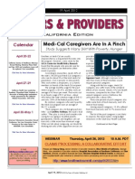 Payers & Providers California Edition – Issue of April 19, 2012