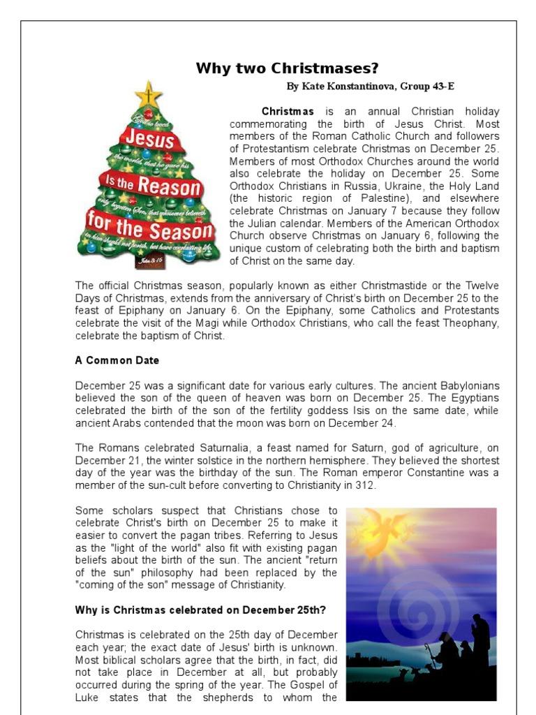 Christmases | Christmas | Eastern Orthodox Church