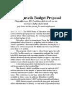 HISD Budget Proposal 041912
