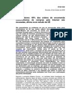 Estudo UE - 60% das ordens de encomenda são recusadas