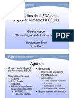 Requisitos de La FDA Para Alimentos Gisela Kopper