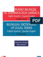 Diccionario Jurídico Bilingüe Inglés-Español