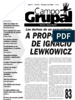 2006 - Humanidad Instituida, Expulsión y Subjetivación