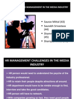 HRM Practices in Media Industry