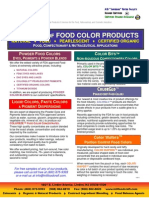 Summary of Food Color Products (5-2011)