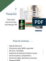 Curso Sobre Control de Pozos Preventivo