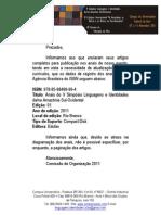 Anais do V Simpósio - ISBN