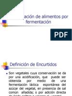 15 Conservación de alimentos por fermentación.