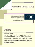 Interactive Artificial Bee Colony Optimization