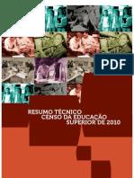 Resumo Tecnico Censo Educacao Superior 2010