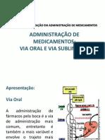 ADMINISTRAÇÃO DE MEDICAMENTOS ORAL E SUBLINGUAL j