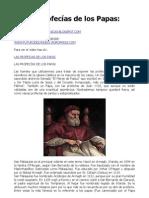 Las Profesias de Los Papas
