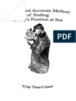 A New and Accurate Method of Finding a Ships Position at Sea
