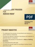 Recruitment Process for ADECCO