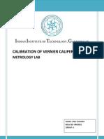 Calibration of Vernier Capilier