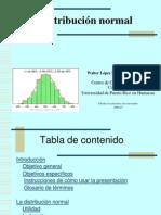 Modulo Sobre La Distribucion Normal Por Wallter Lopez