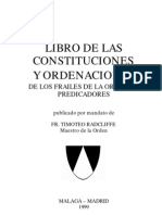 Constituciones Orden de Predicadores