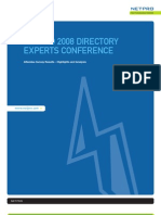 2008 Experts Conference Survey White Paper