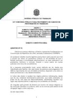 Prova objetiva do concurso para procurador do MPT
