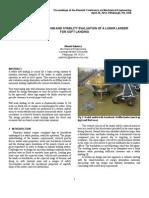 Landing Gear Design and Stability Evaluation of a Lunar Lander