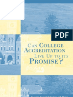 Can College Accreditation Live Up to Its Promise
