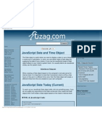 Javascript Tutorial - Date