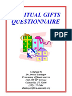 Spiritual Gifts Questionnaire